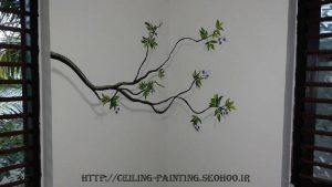 نقاشی سه بعدی روی دیوار